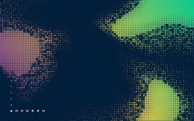 Абстрактный фон ретро красочные полутонов