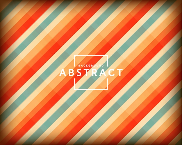 Abstract retro design with colored stripes background