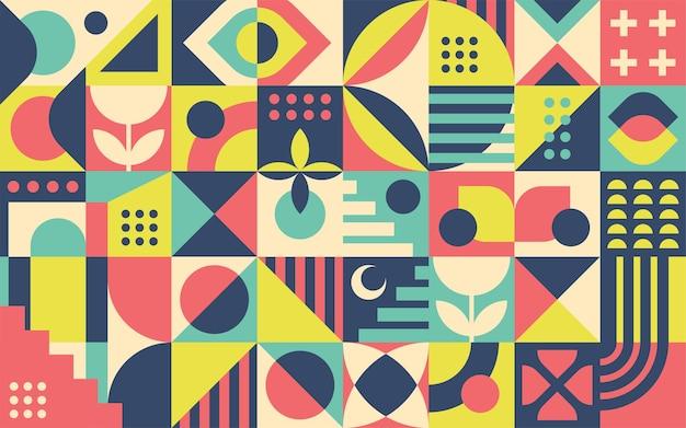 Абстрактный фон ретро геометрические формы