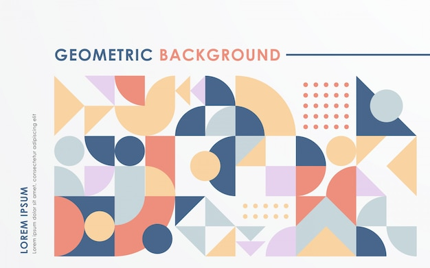 Abstract retro geometric shape background