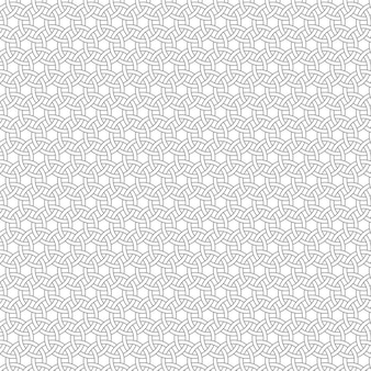 Abstract retro seamless pattern of geometric shapes