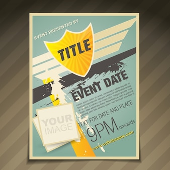Abstract retro style flyer design
