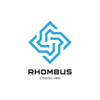Шаблон логотипа абстрактный ромб
