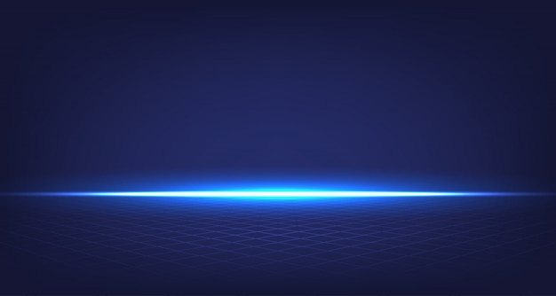 Abstract room blue background