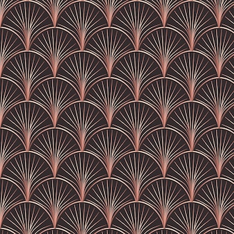 Abstract rose gold art decoration pattern