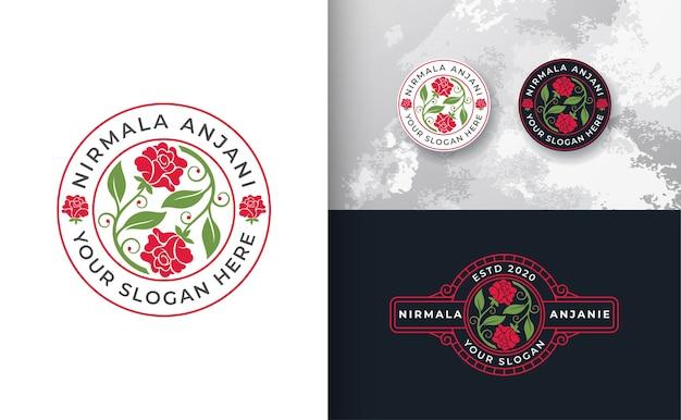 抽象的なバラのロゴのデザイン