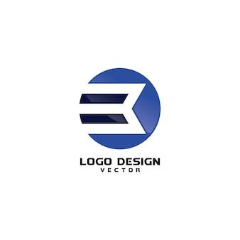 Abstract round b symbol logo design vector