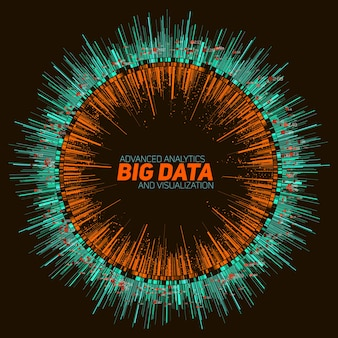 Abstract round big data visualization.