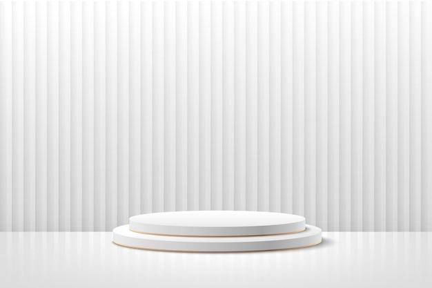 제품 프리젠 테이션을위한 추상 원형 디스플레이