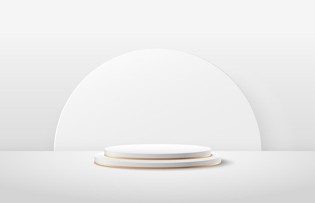 Abstract round display for product on website in modern.