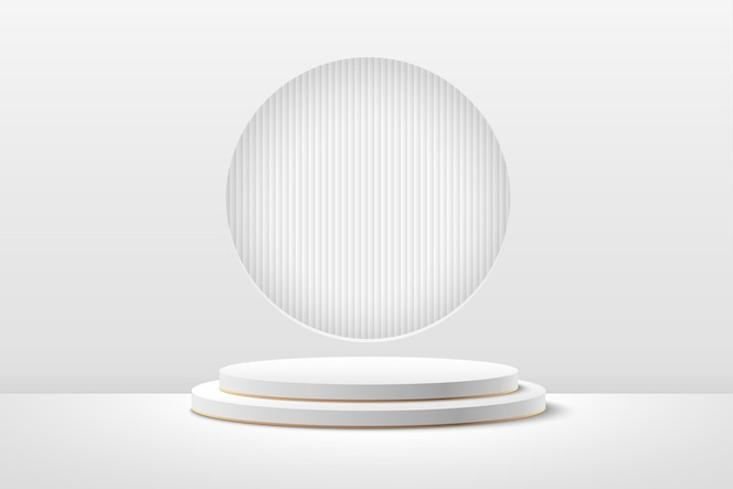 Abstract round display for product