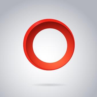 抽象的な丸い幾何学的なグラデーション赤いアイコンベクトル図