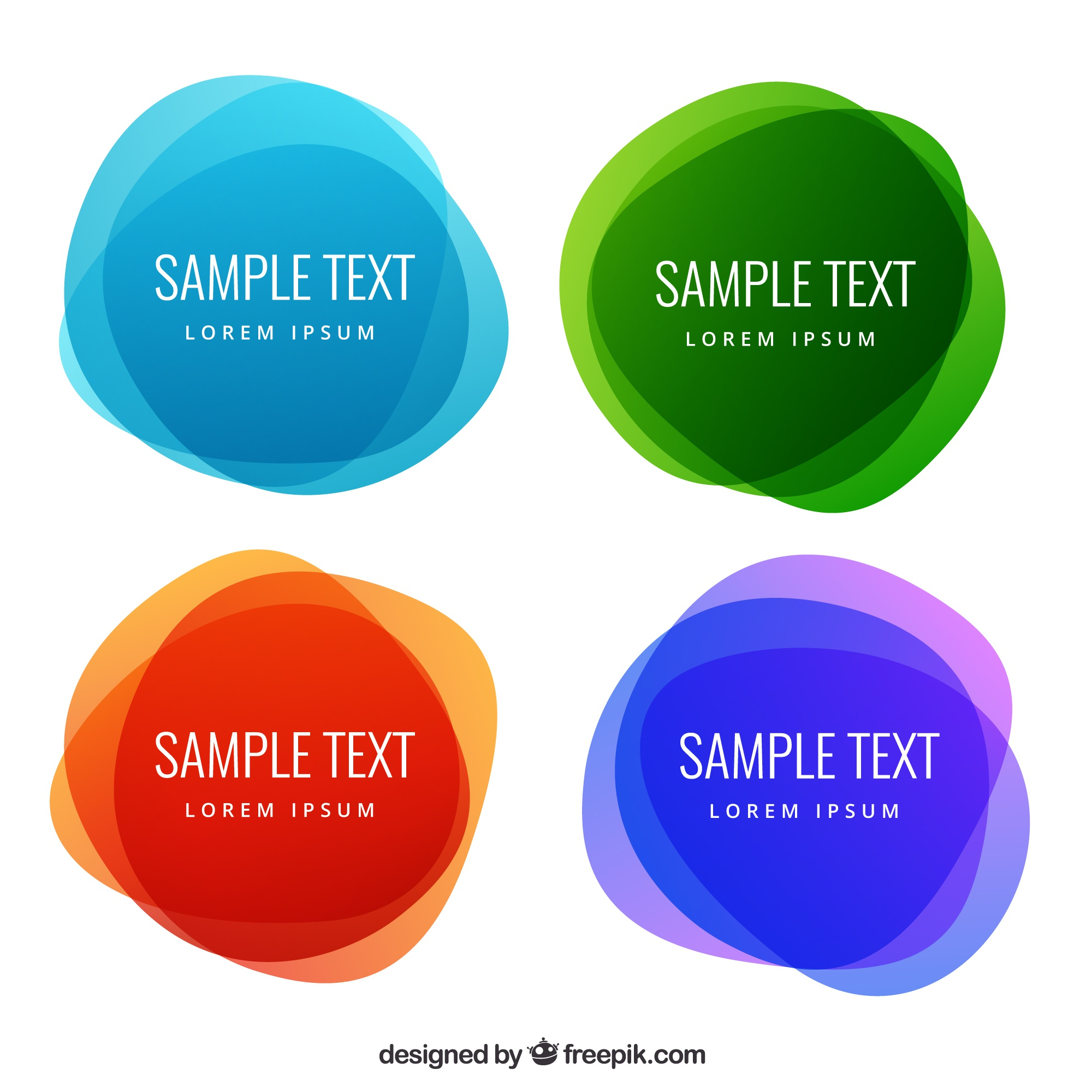 Abstract round labels in colorful style