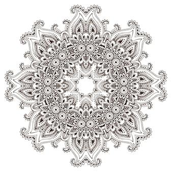 Абстрактный круглый кружевной дизайн мандалы, декоративный элемент