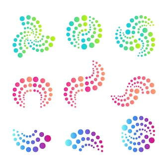 Abstract round logo. dots logos