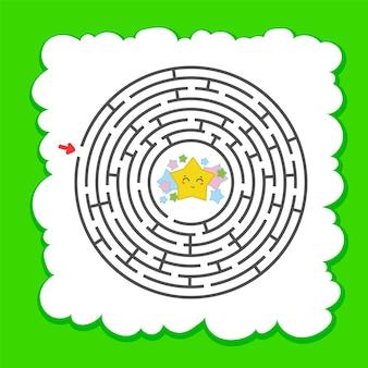 Абстрактный круглый лабиринт.