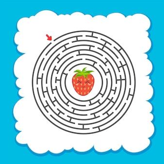 抽象的な丸い迷路。 Premiumベクター