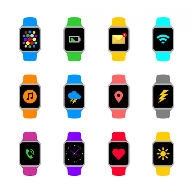 Abstract round smart watch collection