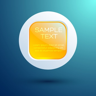 Abstract round square button template