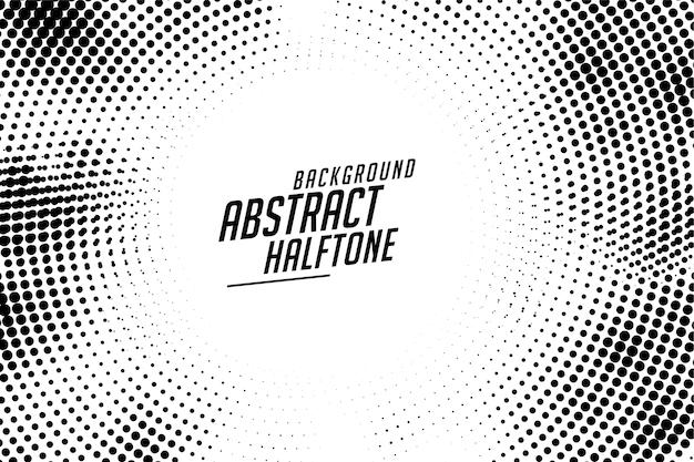 抽象的な丸みを帯びた円形のハーフトーンテクスチャの背景