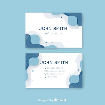 Abstract rounded shape business card template
