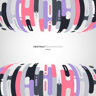 Abstract rounded shapes lines bending transition background