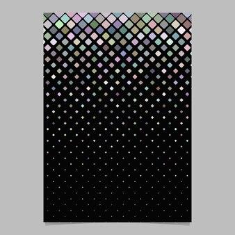 Абстрактный округлый квадратный мозаичный флаер фон
