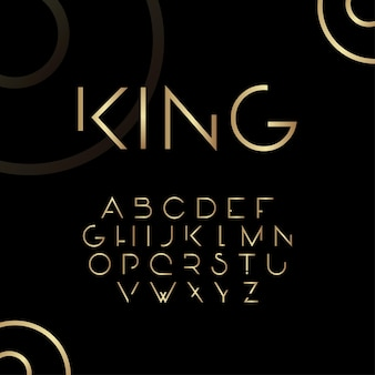 Абстрактный дизайн в стиле королевских шрифтов