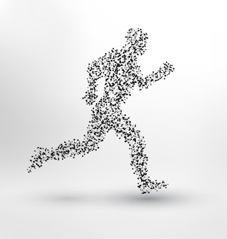 Abstract running design