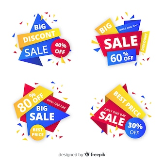 Abstract sale banner collection