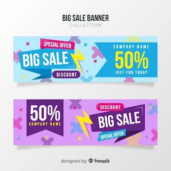 Abstract sale banner concept