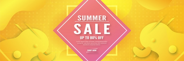 Abstract sale banner for summer season.