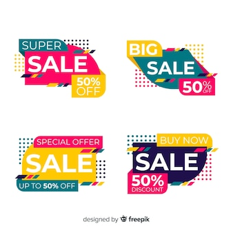 Abstract sale banner template collection