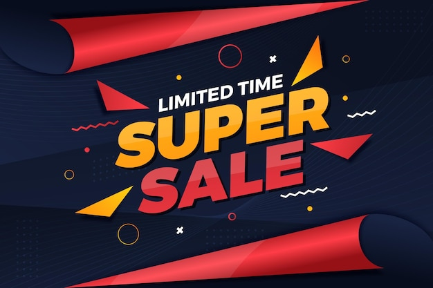 Abstract sale banner template
