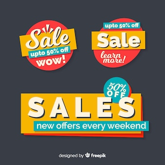 Abstract sale banner templates collection