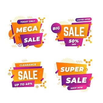 Collezione di banner vendita astratta