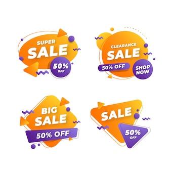 Set di banner di vendita astratta