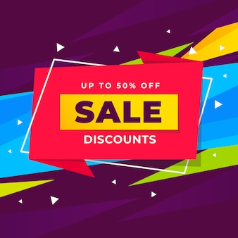 Abstract sale discounts promotion banner