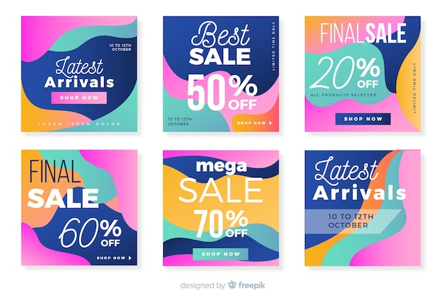 Abstract sale instagram collection