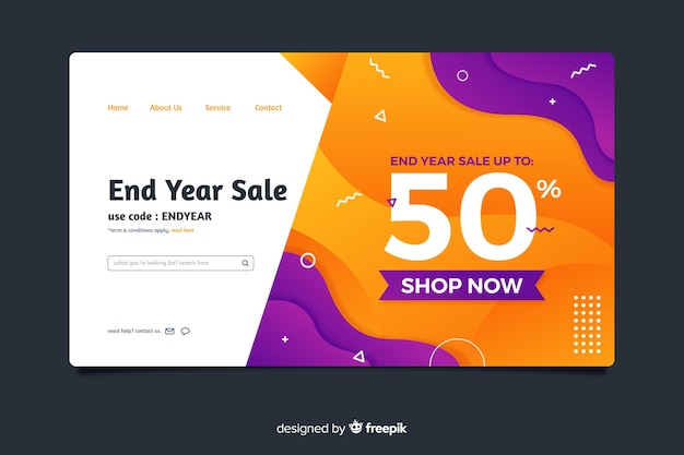 Abstract sale landing page