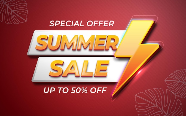Abstract sale promotion banner editable text template
