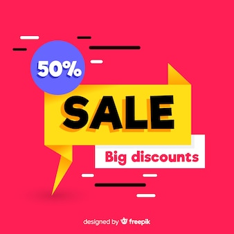 Abstract sale promotion banner template