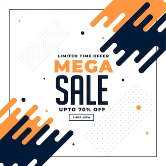 Abstract sale and promotion banner with offer details Free Vector