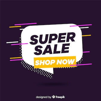 Abstract sale promotion banner