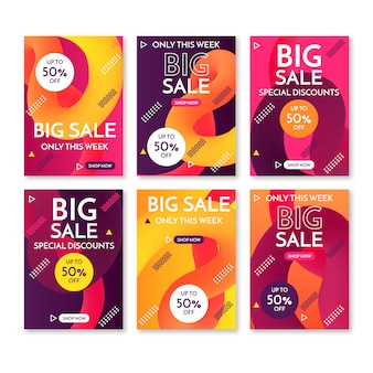 Abstract sale promotion banners