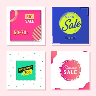 Abstract sale promotional banner template