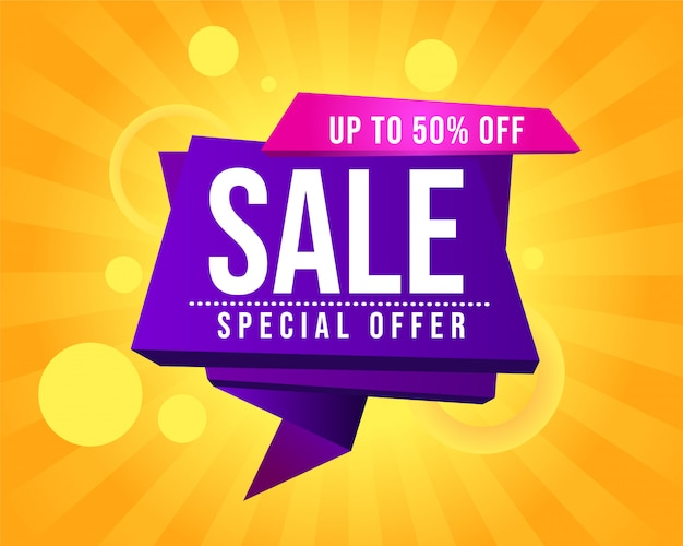 Abstract sale promotional banner