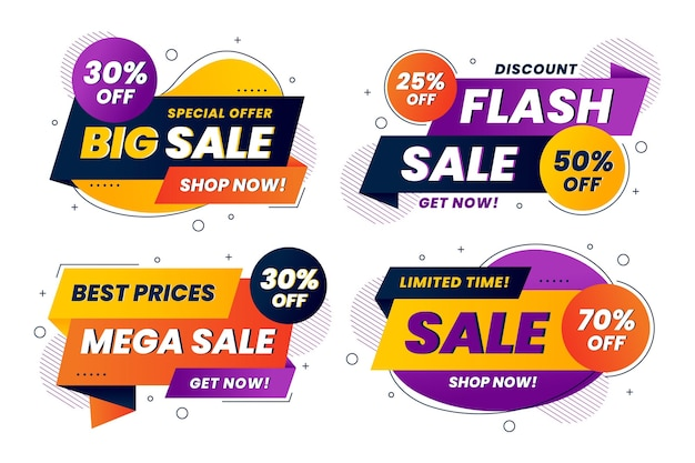Abstract sale stickers