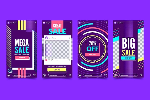 Abstract sale stories collection