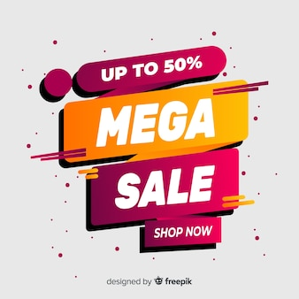 Abstract sales background flat design
